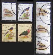 Malesia Malaysia 2005 Birds Lot 7 Stamps  Tekukur Single And 3 Piece Sen - Murai Batu - Punai Tanah - Malesia (1964-...)
