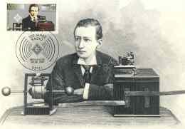 6257  Guglielmo Marconi, Radio: C.maximum 1er Jour D'Allemagne, 1995 - 100 Years Of Radio: Maximum Card With FDCancel - Telecom