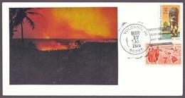 Hawaii - Big Island Of Hawaii, Kilauea Eruption, Volcan, Vulkan, Map, Refuge, Volcano Village (Hilo) Postmark 1978 - Hawaii