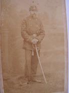 Photo Cdv Carte Visite Militaire A Identifier Siege De Paris 1870-71 Citoyen Ginieis Houchet - Guerre, Militaire