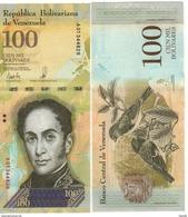 VENEZUELA. Just Issued   New  100'000 Bolivares  Pnew.   2017  UNC. - Venezuela