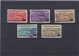 Costa Rica 1940 Scott C46, 47, 49, 50, 51  Used   Yvert PA44A,44B,44D,44E,44F    032 - Costa Rica