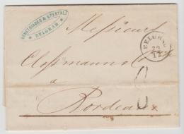 Ser015 / Brief, Serbien 1860 Nach Frankreich - Serbien