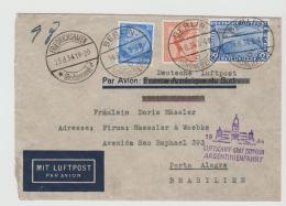 III-652 / Argentinienfahrt Graf Zeppelin 1934. Anschlussflug Von Berlin (2 RM Chicagofahrt) - Briefe U. Dokumente