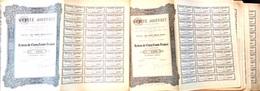 """Lot De 40 Actions Anciennes (Cinq Cents Francs) Société Anonyme """"Jouffret"""" - Actions & Titres"""