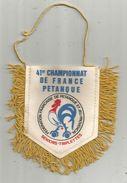 Fanion , Sports , PETANQUE , 41 éme Championnat De France , 1986 , Séniors Triplettes, 49, ANGERS, Frais Fr : 1.55 E - Pétanque
