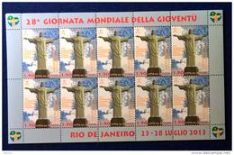 Vaticano 2013 Sass. 1622 Minifoglio Da 10 **/MNH VF - Blocs & Feuillets