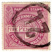 (I.B) Australia - NSW Government Railways : Parcels Stamp 5d - Australia