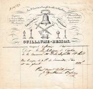 1841 - ANGERS (49) - ARTICLES D'EGLISES, Fonderie, Orfèvrerie - Tabernacles - GUILLAUME-BESSON - Historische Dokumente