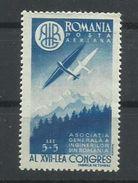 RUMANIA YVERT AEREO 43  MNH  ** - Aéreo