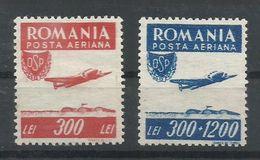RUMANIA YVERT AEREO 36/37   MNH  ** - Aéreo