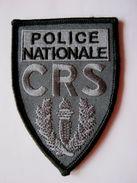 INSIGNE TISSUS PATCH POLICE NATIONALE CRS EN B.V  (SUR VELCROS) 9.5CM X 6.5CM ETAT EXCELLENT - Police