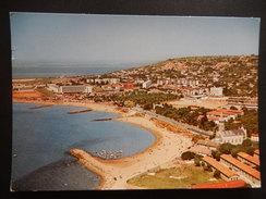 CPSM - (34) - 1975 - SETE - VUE AERIENNE ET LA PLAGE DANS LE FOND BASSIN DE THAU - PHOTO VERITABLE - R8899 - Sete (Cette)