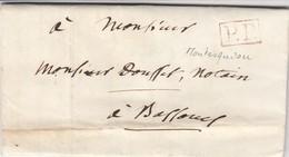 LETTRE 1842. MONTESQUIOU GERS EN P.P. POUR BASSOUES - 1801-1848: Precursori XIX