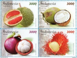 INDONESIA 2017-12 FRUITS BLOCK SET STAMPS MNH - Indonésie