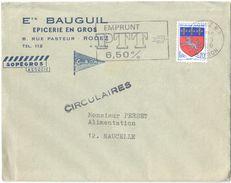4245 RODEZ Aveyron Lettre Circulaire Entête EPICERIE DE GROS Ets BAUGUIL CIBON Tarif  Ob 1968 Blason St Lo Yv 1510 - Alimentation