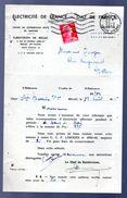 Marianne De Muller 15f Rouge Sur Document EDF GDF 1955 - 1955- Marianne De Muller