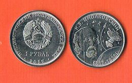 Transnistria 1 Rouble 2017 - Space Exploration - Tsiolkovsky - Monnaies