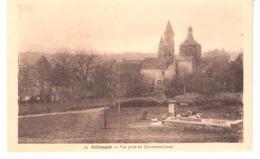 Collonges-la-Rouge(Meyssac-Corrèze)+/-1920-vue Du Village Depuis Cimetière-Grand-Eglise-Tour De Garde-Fontaine-Abreuvoir - Brive La Gaillarde