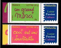 INVITATION / MERCI 2005 LOGO PRIVE N° 3760Ab/3761Ab COTE 40 EUROS SUR YVERT 2019  LUXE - France