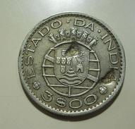 Portugal India 3 Escudos 1959 With 2 Knocks - Portugal