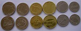FIJI  SERIE 6 MONETE NEW  2$  1$  50-20-10-5 CENTS FDC ANIMALI FDC - Figi
