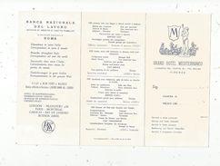 Carte D'hotel , Italie , GRAND HOTEL MEDITERRANEO , Firenze , 6 Pages , Plan, 2 Scans - Advertising