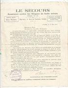 Proposition D'assurance Aux Communes Et Aux Maires Par La Cgie LE SECOURS , 1925, 4 Scans, Frais Fr 1.45 E - Advertising