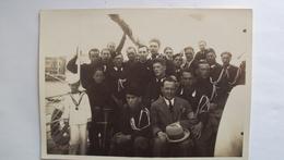 ITALIA FOTO ZAMBERLAN TRIESTE GRUPPO DI FASCISTI E CAMICIE NERE PROBABILMENTE IN ISTRIA CM. 13x18 - Guerre, Militaire