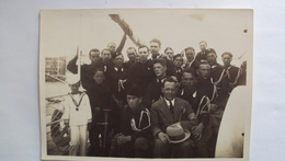 ITALIA FOTO ZAMBERLAN TRIESTE GRUPPO DI FASCISTI E CAMICIE NERE PROBABILMENTE IN ISTRIA CM. 13x18 - Guerra, Militari