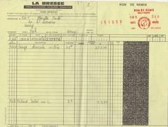 EMPREINTE ROUGE BON DE REMIS ENLEVEMENT 1976 - Fiscale Zegels