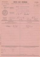 EMPREINTE NOIR BON DE REMIS 1976 - Fiscale Zegels