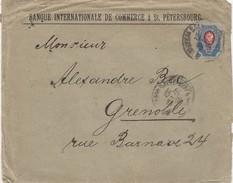 RUSSIE - LA BANQUE INTERNATIONALE DE COMMERCE ST PETERSBOURG 1904 TO GRENOBLE ISERE FRANCE /2 - 1857-1916 Empire