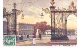 ILLUSTRATEUR RAPHAEL TUCK-Oilette-Nancy-Meurthe Et Moselle-1909-Place Stanislas-Grille Jean Lamour-Carte Très Bon état - Tuck, Raphael