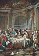 Peinture. De Troy. Le Déjeuner D'huîtres. Musée Condé Chantilly. - Chantilly
