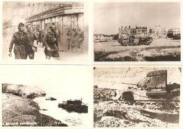 76 - DIEPPE - Lot De 5 Photos 12,7 X 17,9 Cm - GUERRE 1939-1945 - Photo, Photographie WW2, Ruines Grand-Hôtel Tanks Tank - Dieppe