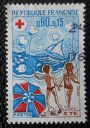 1828 France 1974 Oblitéré  Croix-Rouge L' été - Gebraucht