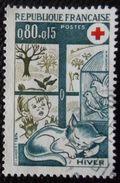 1829 France 1974 Oblitéré  Croix-Rouge L' Hiver - Gebraucht