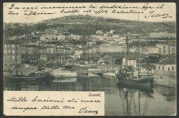 1900/04 Ungheria Hungary SUSSAK Cartolina Affr.10 Fi.rosso 'Aquila' Viaggiata Bologna - Storia Postale