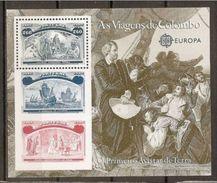 1992 Portogallo EUROPA CEPT EUROPE Foglietto SCOPERTA AMERICA COLOMBO DISCOVERY MNH** Souv. Sheet - Europa-CEPT
