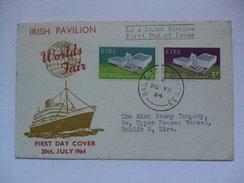 IRELAND - 1964 FDC - New York`s World Fair - Irish Pavilion - 1949-... Repubblica D'Irlanda