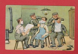 Feldpostkarte --  Sonntagmorgen - Humor