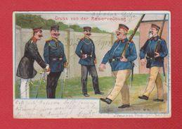 Feldpostkarte --  Gruss Von Der Reserveubung - Humor