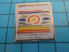 Pin912c  Pin's Pins / Rare Et De Belle Qualité SPORTS / JEUX MEDITERRANEENS 93 LANGUEDOC-ROUSSILLON MENDE - Pin