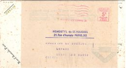 4222 PARIS 22 Buvard Publicitaire Sté HERMOSTYL Dr ROUSSEL Sous Bande EMA A0382 5c Ob 23 4 1926 Produits Pharmaceutiques - Pharmacie