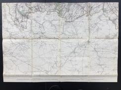 Topografische En Militaire Kaart STAFKAART 1908 Roisin Erquennes Aulnois Grand Reng Maubeuge Bavay Le Qusnoy Dour - Topographical Maps