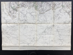 Topografische En Militaire Kaart STAFKAART 1908 Roisin Erquennes Aulnois Grand Reng Maubeuge Bavay Le Qusnoy Dour - Cartes Topographiques