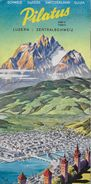 LUZERN → Mt.Pilate / Pilatus Reiseprospekt, Ca.1950 - Reiseprospekte