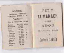 PETIT ALMANACH GANTERIE SAMDAM LIEGE VERVIERS / 1903 - Books, Magazines, Comics