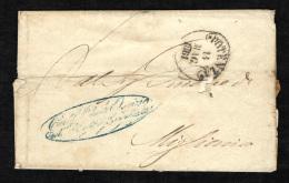 ITALIA - 14 MAG 1861 - PLICO DA POTENZA VERSO MIGLIONICO - Italia